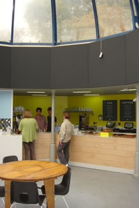 Interior view of Pavilion cafe, Hackney, London E9, UK