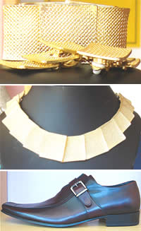 J'adores - costume jewellery in gold plate, wedding jewellery, dress shoes for men