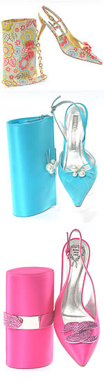 From the evening shoes and matching clutch collection at J'adores