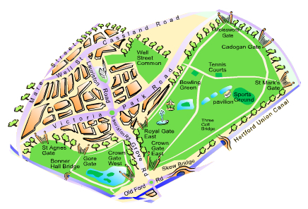 Map of Victoria Park, London E9